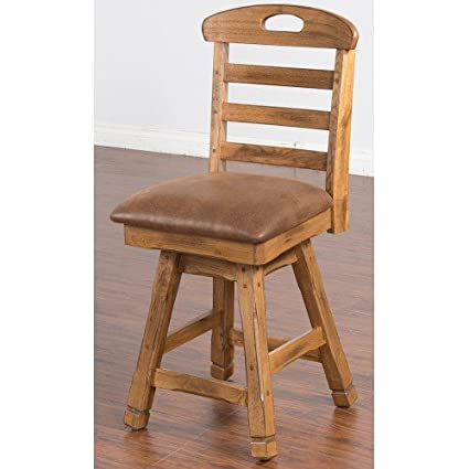 Amazoncom Sunny Design 1866ro 24 Sedona Swivel Barstool With