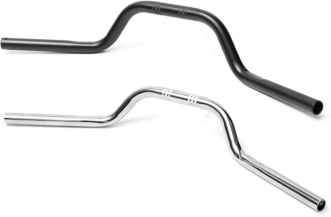 1 Zoll 25Mm Aluminium Lenker Drag Bar F/ür Harley Davidson Sportster 883 1200-Schwarz