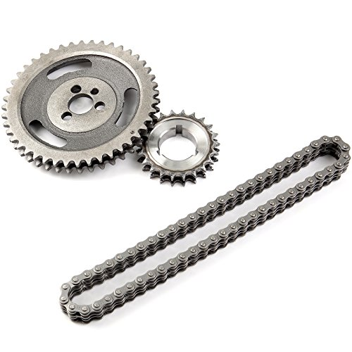 V8 Timing Chevy (OCPTY Replacement fit for GM SBC V8 CHEVY HD DOUBLE ROLLER TIMING CHAIN 5.7L 283 305 327 350 383 400)
