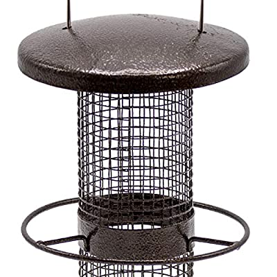 Sorbus Bird Feeder – Circular Perch Hanging Feeder Bird Seed More, Premium Iron Metal Design Hanger, Great Attracting Birds Outdoors, Backyard, Garden