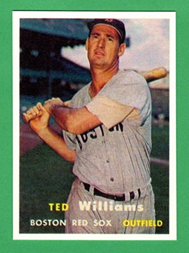 Ted Williams 1957 Topps Baseball Reprint Card (Red Sox)