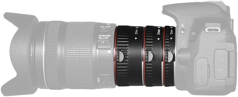 Andoer Brand New Upgraded Macro Extension Tube Set 3-Piece 13mm+ ...