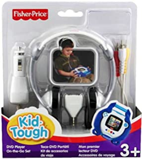 fisher price kid tough dvd player on the go kit