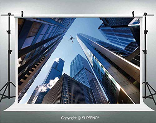 Photography Background Looking Up at Chicagos Skyscrapers in Financial District American City Picture 3D Backdrops for Photography Backdrop Photo Background Studio Prop -