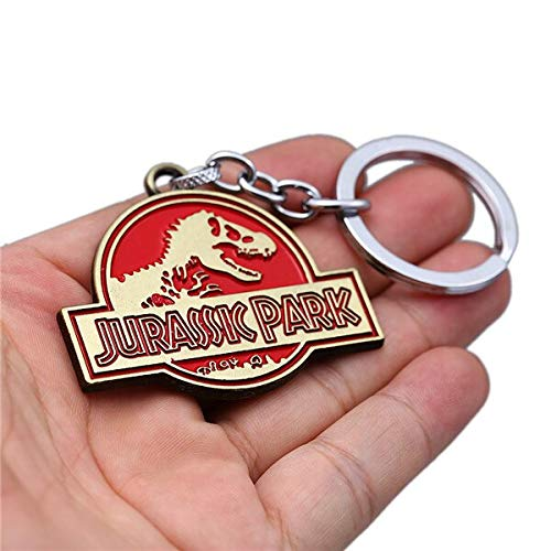 FITIONS - 6 Styles Movie Jurassic Park Keychain Jurassic ...