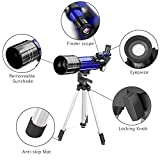 CSSEA 70mm Refractors Telescope for Kids and Astronomy Beginners, Travel Scope with Adjustable Tripod & Finder Scope & Two Eyepieces(K25mm & K10mm)-Perfect for Children Educational and Gift