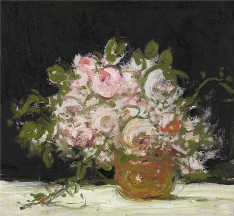 [Oil Painting 'Jakob Smits - Still Life Of Roses' Printing On High Quality Polyster Canvas , 8x9 Inch / 20x22 Cm ,the Best Study Artwork And Home Decoration And Gifts Is This Amazing Art Decorative Canvas] (Museum Of Country Life And Costume)
