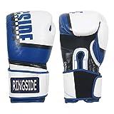 Ringside WH/BL Omega Sparring Boxing Gloves, 16 oz