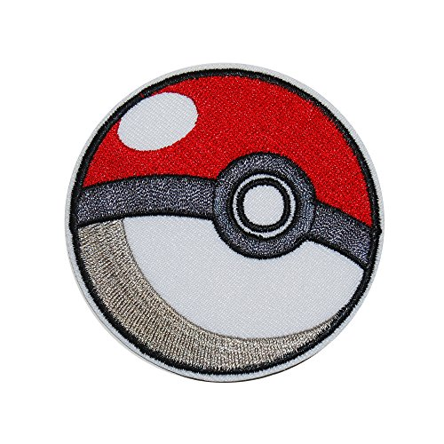 Assorted Designs Embroidery Patches Iron On Patches Sew On Patch Horror Movies Anime Manga Pop Culture Trippy 420 Art & More! (Pokeball)