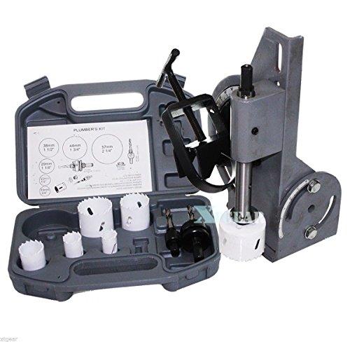 MAREEYA SHOP Tube & Pipe Notcher 60 Degree Notch And 6Pc Bi-Metal Hole Saw W/2 Drills Kit