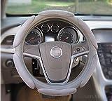 15 inch ford van hubcaps - Gray Easy Warm Sport Soft Anti Slip Suede Soft Grip Auto Car Van Steering Wheel Cover 15