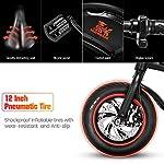 urbetter-Bicicletta-Elettrica-Pieghevole-velocita-Massima-25-kmh-36V-10Ah-Batteria-Autonomia-40-60-Km-Sedile-Regolabile-12-Bici-Elettrica-Pedalata-Assistita-Unisex-Adulto-B1-PRO