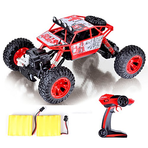 coolmade rc car conqueror electric rc truck rock crawler 2 4ghz 4 wheel drive 1 18 racing cars. Black Bedroom Furniture Sets. Home Design Ideas