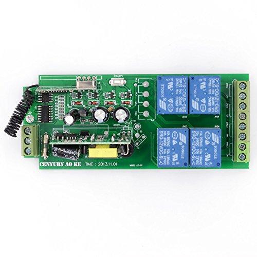 Lejin AC85v ~ 250V 110V 230V 4CH 4 Channel Radio Remote Control Wireless Remote Control Switch 220V Relay Output Radio RF Transmitter Radio System 433Mhz Receiver by Lejin (Image #3)