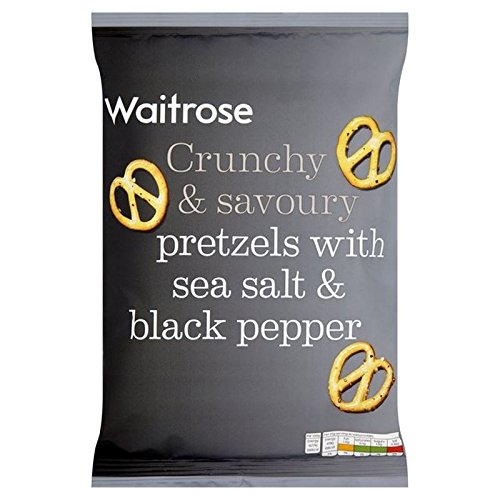 Sea Salt & Cracked Pepper Pretzels Waitrose 150g (Pack of 6)