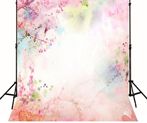 Hand Painted Scenic Photography Backdrop Pink Dye Cloth Photo Background Printed Booth Studio Shoot Props Wallpaper 1298