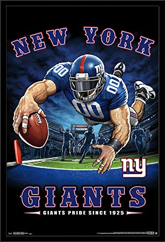 Amazon.com  Trends International Framed Poster New York Giants-End ... 9119444d3