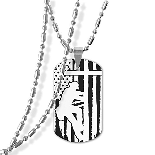 Lineman With American Flag Unisex Jewelry Pendant Military Brand Necklace