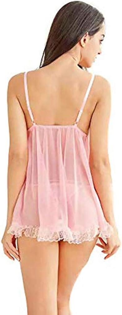 Womens Lingerie V Neck Nightwear Satin Sleepwear Lace Chemise Mini Teddy