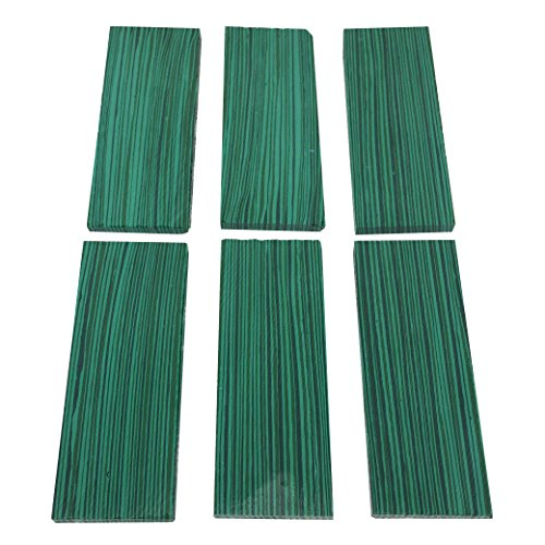 6pcs 35mmx90mmx5mm Green Reconstitute Malachite Turquoise Gemstone Recon Stone Inlay Billet Sheet Material Knife Handle Blank Scales Scale Slab