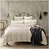 quilt covers - Doffapd Duvet Cover Queen, Washed Cotton Duvet Cover Set - 3 Piece (Queen, Off-White)