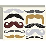 Moustaches Stationery by Paper Source