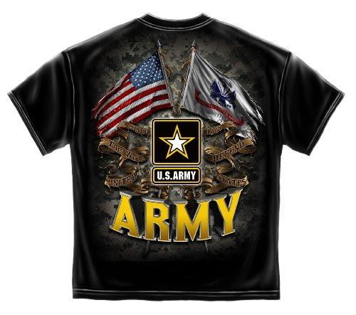 Erazor Bits US Army | Army Double Flag US Army T Shirt MM2151