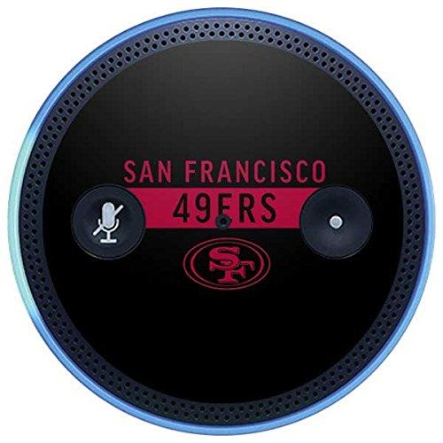 Skinit NFL San Francisco 49ers Amazon Echo Plus Skin - San Francisco 49ers Black Performance Series Design - Ultra Thin, Lightweight Vinyl Decal Protection