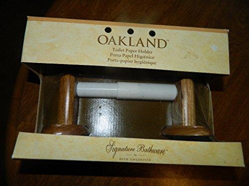 thware Oak Finish Toilet Paper Holder (Oakland Bath Fixture)