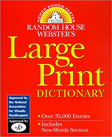 Lataa ebook-tiedostoja mobiililaitteille Random House Webster's Large Print Dictionary (Random House Newer Words Faster) CHM
