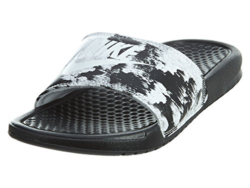 NIKE Womens Benassi JDI Print Slide Sandals Black/White 618919-006 (5 M US) Benassi Slide