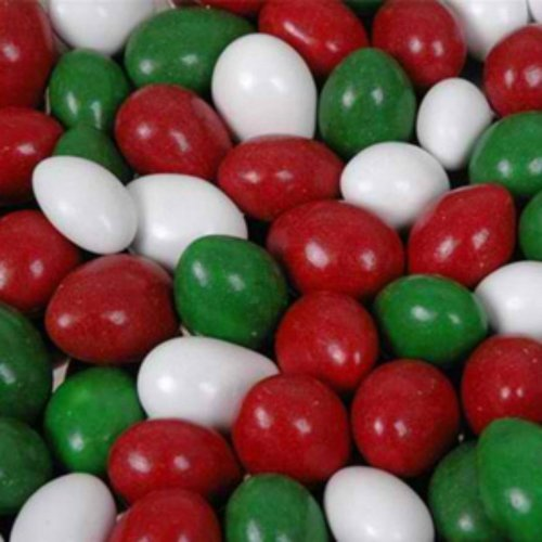 Christmas Mix Chocolate Covered Jordan Almonds 5lb Bag by The Nutty Fruit House
