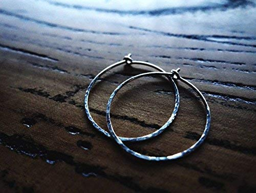 A PAIR-Hammered Texture Medium Hoop Earrings/Classic Silver Hoop Earrings/Gold Hoops/Rose Gold Hoop earrings/Everyday Earrings/925 Sterling Silver/14K Gold Filled/14K Rose Gold Filled/Diameter 1.0''
