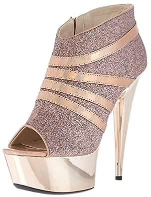 Ellie Shoes Womens 609-KIKI 609-kiki Gold Size: 5