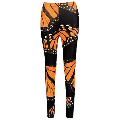 Huixin Polainas De Las Mujeres Impreso Estampado Pantalones Fitness Stretch Entrenamiento Correr Deportivos Pantalones Elásticos Delgados Pantalones Casuales: Ropa y accesorios