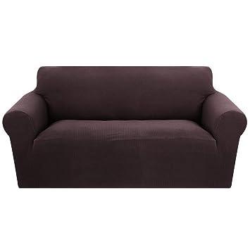 Fundas de Sofás Elástica 2 Plazas de Punto Universal Protector del sofá Se Adapta a Toda la Tela Cubierta Cubierta de Muebles Elegante y Duradera para ...