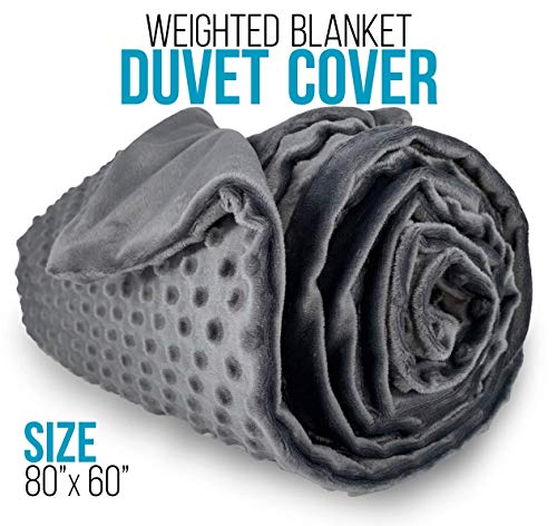(CozyCorner Premium Duvet Cover | ONLY | for Weighted Blanket - Removable 60