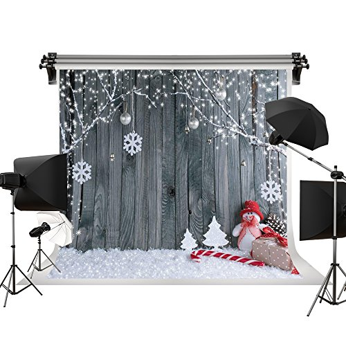 Kate 7x5ft/2.2x1.5m Holiday Christmas Background Photography Wood Wall Seamless Cotton Bokeh Backdrops Photography Studio -