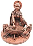 Celtic Goddess of Rebirth Inspiration Cerridwen Enchantress Figurine Magical Potion Cauldron Statue