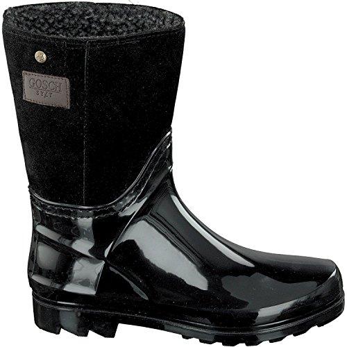 Sylt Shoes plisadas negro Botas Gosch Mujer A5Rqqd