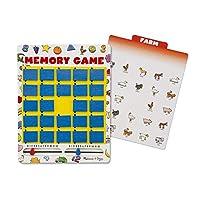 """Juego de memoria de Melissa y Doug Flip-to-Win (juegos de viaje, diseño de bisagra de bungee, ilustraciones coloridas, 7 tarjetas de doble cara, 11.7 """"de alto x 8.5"""" de ancho x 0.9 """"de largo)"""