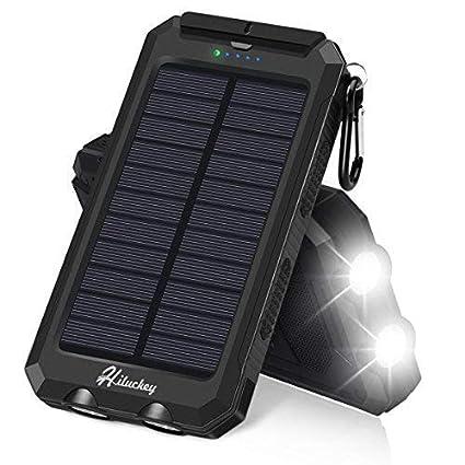 Amazon.com: Cargador solar, hiluckey Portable Solar Power ...