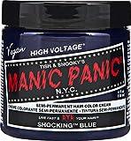 Manic Panic Classic High Voltage Shocking Blue Semi-Permanent Hair Dye, 4oz