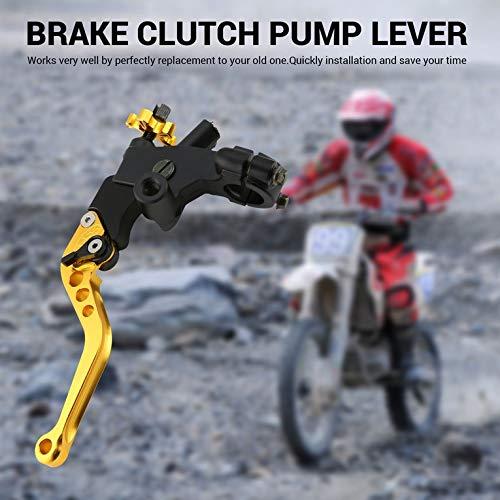 Cilindro hidráulico de la palanca de la bomba del embrague de freno para Honda Yamaha Moto - dorado: Amazon.es: Amazon.es