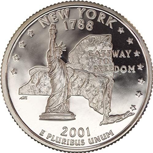 2001 S New York State Clad Proof Quarter PF1 US Mint
