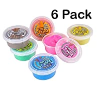 6 Pack Magic Sculpting Sand Assorted Colors Squeezable Sand That Never Dries Out Great Toy For Any Child Favor, Gift, Birthday - By Katzco