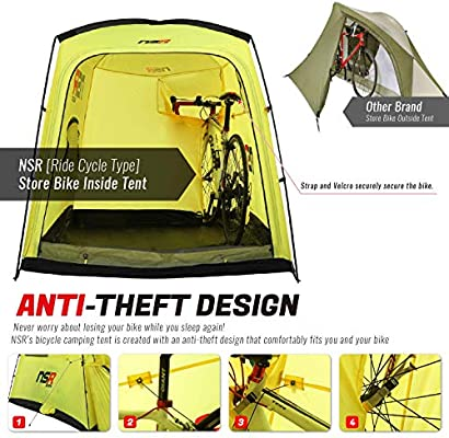 nsr bicycle tour camping tent