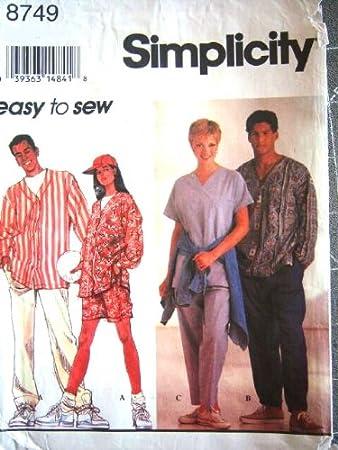 Simplicity Schnittmuster 8749 sowie Herren Baseball Shirts, Pants ...