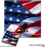 Sony PS3 Slim Skin - Ole Glory Bald Eagle