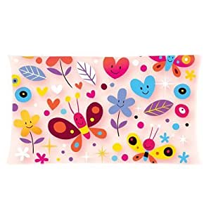 Custom Cute 3D Colorful Butterfly Rectangle Soft Pillow Case Standard Size 20x36